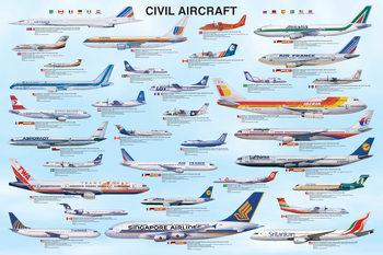 Civil aircraft Plakát