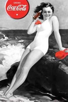 Coca Cola - girl Plakát