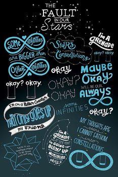 Csillagainkban a hiba - Typographic Plakát