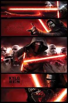 Csillagok háborúja VII (Star Wars: Az ébredő Erő) - Kylo Ren Panels Plakát