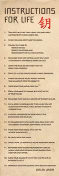 Dalai Lama - návody pro život plakát