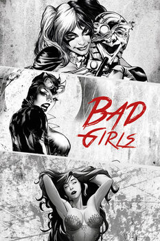 DC Comics - Badgirls (B&W) Plakát