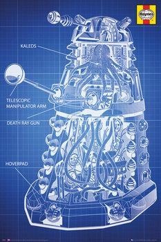 Doctor Who - Ki vagy, doki? - Haynes Dalek Blueprint Plakát