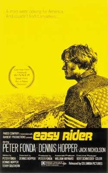 EASY RIDER - us one sheet / yellow plakát