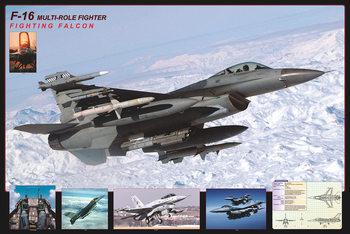F16 Fighting falcon - airplane Plakát