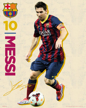 FC Barcelona - Messi Vintage 13/14 Plakát