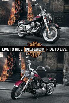 Harley Davidson - memphis Plakát