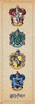 Harry Potter - House Crests Plakát