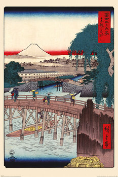 Hiroshige - Ichikoku Bridge In The Eastern Capital Plakát