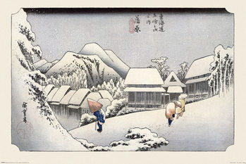 Hiroshige - Kambara Plakát