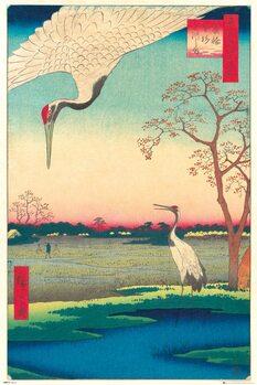 Plakát Hiroshige - Kanasugi at Mikawashima