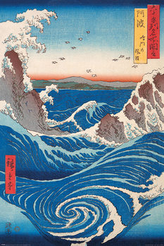 Hiroshige - Naruto Whirlpool Plakát