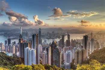 Hong Kong - Victoria Peak Plakát