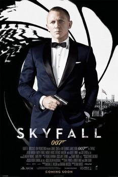 JAMES BOND 007 - skyfall one sheet black plakát