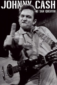 Johnny Cash - san quentin portrait Plakát