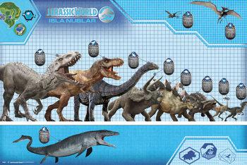 Jurassic World - Size Chart Plakát