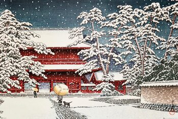 Kawase - Zojo Temple in the Snow Plakát
