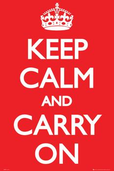 Keep Calm And Carry On Plakát