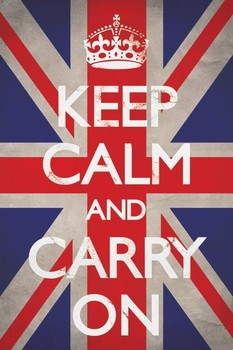 Keep calm and carry on - union Plakát
