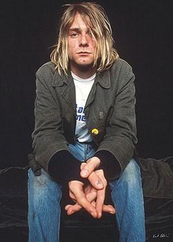 Kurt Cobain - sitting Plakát