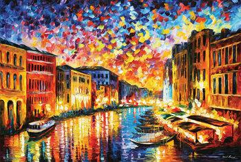 Leonid Afremov - Venice Grand Canal Plakát