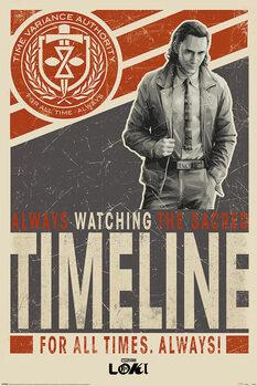 Plakát Loki - Timeline
