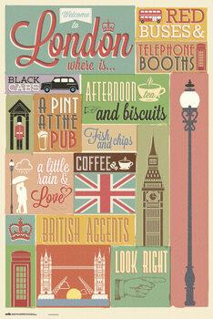 Plakát London - Collage