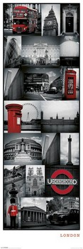 London - collage plakát