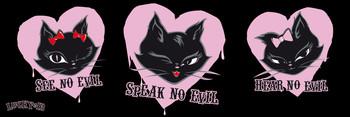 Lucky 13 - three cats Plakát