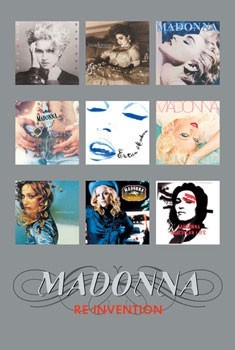 Madonna - album covers silver Plakát