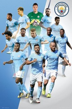 Manchester City - Players 17/18 Plakát