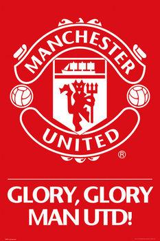 Manchester United - crest Plakát