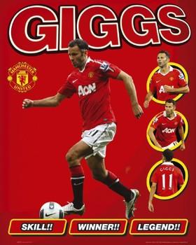 Manchester United - giggs Plakát