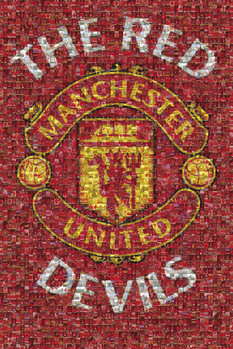 Manchester United - mosaic Plakát