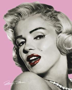 MARILYN MONROE - pink Plakát
