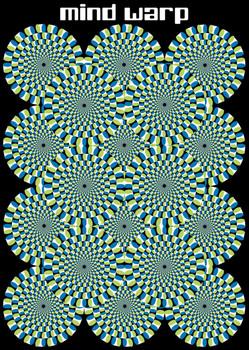 Mind warp - circles Plakát