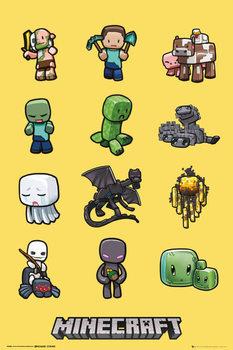 Minecraft - characters  Plakát