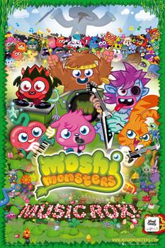 Moshi monsters - music rox  Plakát
