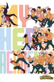 Plakát My Hero Academia -  Season Key Art