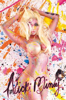 Nicky Minaj - paint Plakát