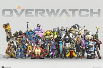 Overwatch - Anniversary Line Up Plakát