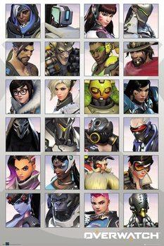 Overwatch - Character Portraits Plakát
