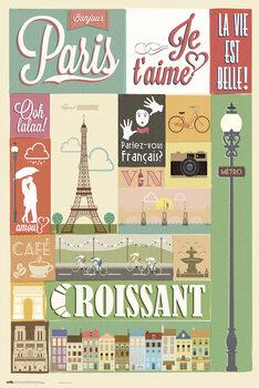 Plakát Paris - Collage