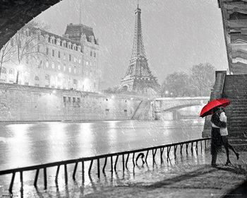 Paris - Eiffel Tower Kiss Plakát