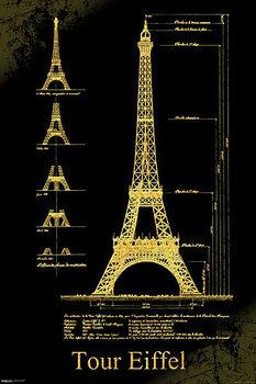 Párizs - Eiffel-torony Plakát