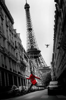 Párizs - la veste rouge Plakát