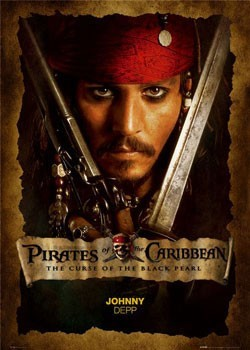 Pirates of Caribbean - Depp close up Plakát