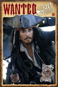 Pirates of Caribbean - Depp wanted Plakát