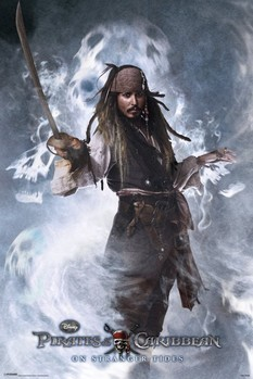 PIRATES OF THE CARIBBEAN 4 - jack Plakát
