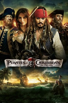 PIRATES OF THE CARIBBEAN 4 - one sheet Plakát